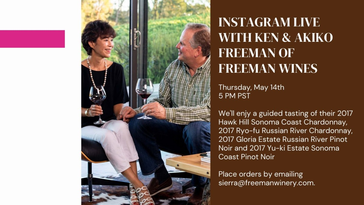 Akiko & Ken Freeman of Freeman Winery