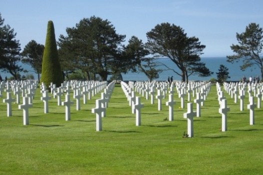 Omaha Beach & Cemetery in Normandy France