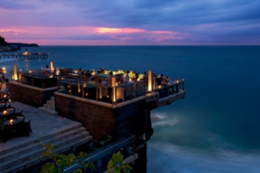 The Ayana Hotel's Incredible Rock Bar In Uluwatu Bali