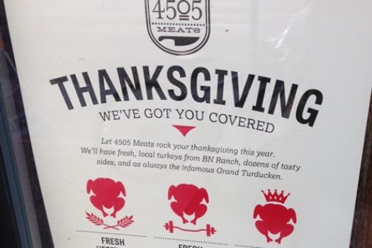 California: San Francisco Thanksgiving Dinner Dining Options