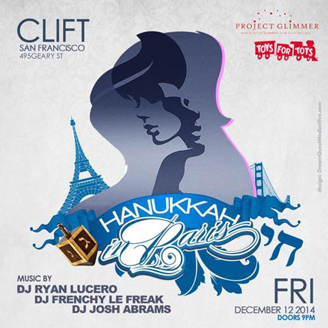"""San Francisco's Clift Hotel """"The Hannukah In Paris"""""""