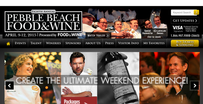 Pebble Beach Food & Wine 2015
