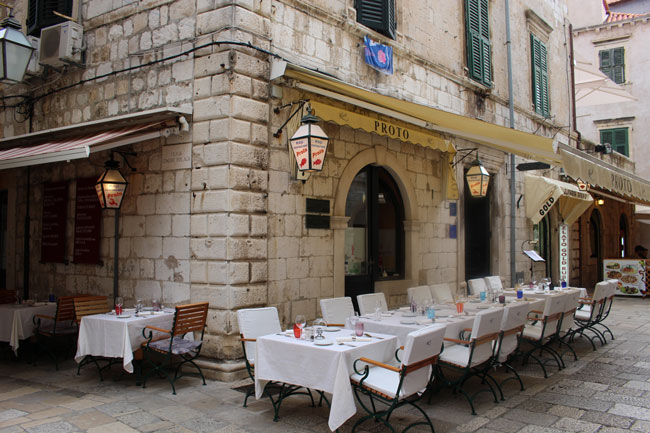 Proto Fish Restaurant With The Best Views In Dubrovnik Croatia