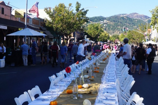 Calistoga's Harvest Table Dinner & Wine Event a Calistoga Must Do!