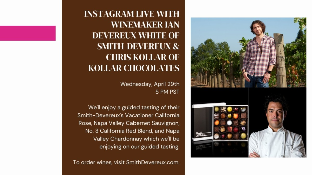 Ian Devereux of Smith-Devereux Wines & Chris Kollar Chocolates