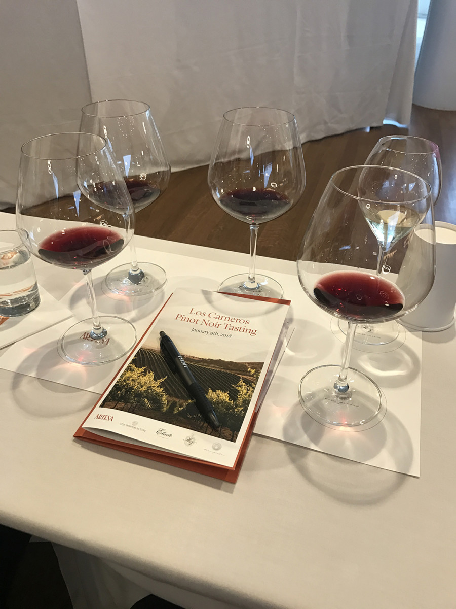 Carneros Pinot Noir Tasting at Artesa Winery