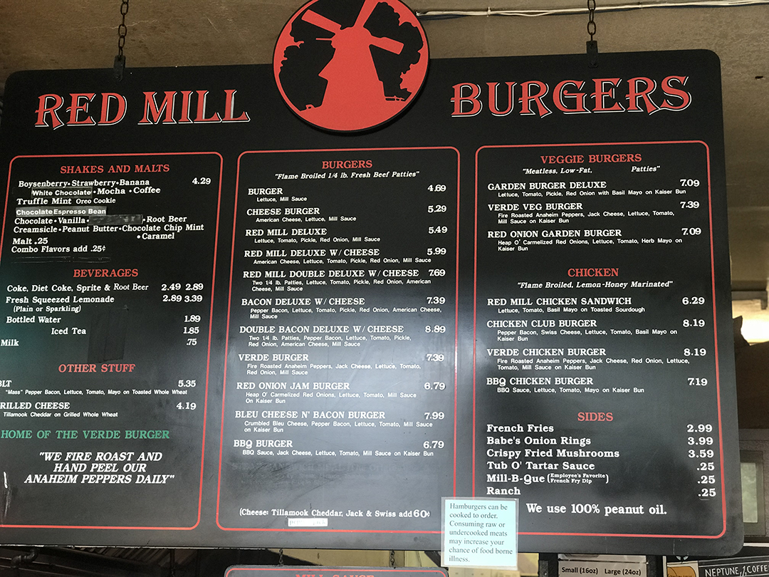 Red Mill Burgers Seattle