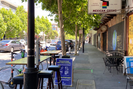 Outdoor Dining in San Francisco's Mission During Shelter in Place