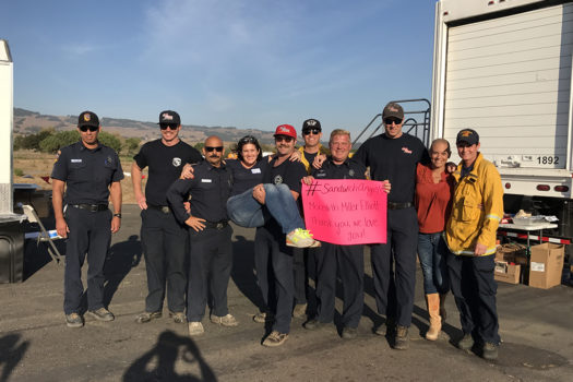 The Sandwich Angels Sonoma Fire Relief Volunteers