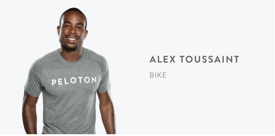Peloton Instructor Alex Toussaint