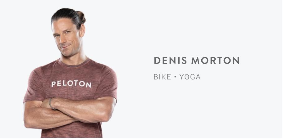 Peloton Instructor Denis Morton