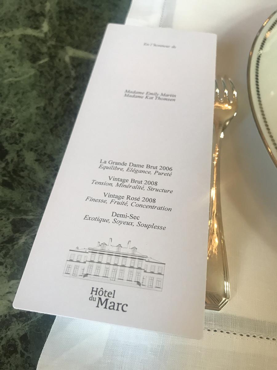 Veuve Clicquot Hotel du Marc